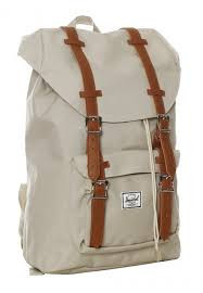 herschel little america mid volume pelican tan synthetic leather backpack streetwear impericon com worldwide