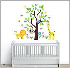 tree wall decal nursery wall decals nursery l and stick safari animal wall decals kids room tree wall decal