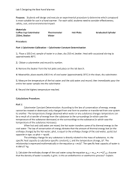 Designing A Hand Warmer Pre Lab Questions Answers Hand Warmer Lab Template