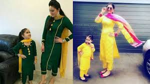 Punjabi Suits For <b>Mother And Daughter</b> || <b>Mother And Daughter</b> ...