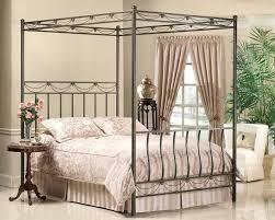 decoration: Image Of Metal King Canopy Bed Frame Size Black. King ...