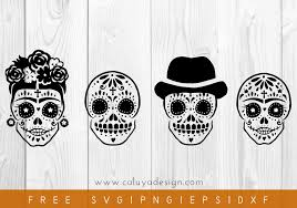 Inside you'll find lots of free files for you because i truly love to share — every week i'll be adding more to the library, so check. Free Hand Drawn Sugar Skull Svg Png Eps Dxf By Caluya Design