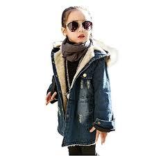 Kids Little Big Girls Winter Hooded Fur Collar Thick ... - Amazon.com