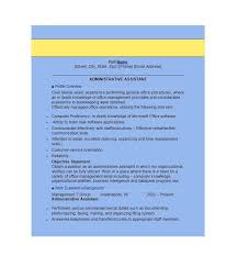 Executive Assistant Resume Templates Cool Administrative Duties Resume Wandererappco