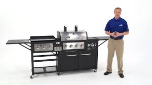 gas grill and griddle combo