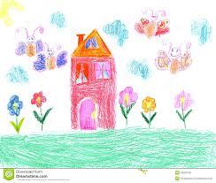 Dessin D Enfant D Une Maison Illustration Stock Illustration Du