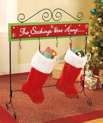 Christmas Stocking Floor Stand Metal Wood Holder Table Rack Hanger Holiday  Decor | eBay