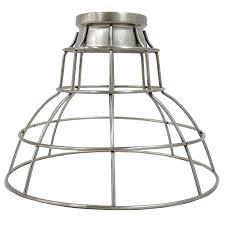 wire cage pendant light. Portfolio 7-in H 9-in W Brushed Nickel Wire Industrial Cage Pendant Light