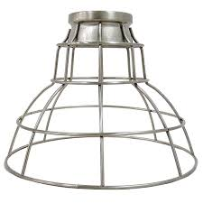 portfolio 7 in h 9 in w brushed nickel wire industrial cage pendant light shade