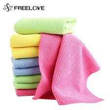 8 pieces corn kernels double sided solid microfiber cleaning cloth absorbent kitchen washing towels glasses