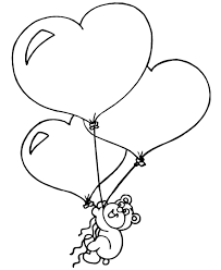 Teddy Bear With Heart Coloring Pages Coloring Coloring Home