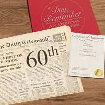 60th birthday newspapers