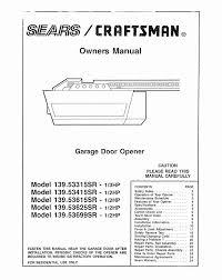 sears craftsman door opener craftsman 1 2 hp garage door opener manual home remodel design ideas