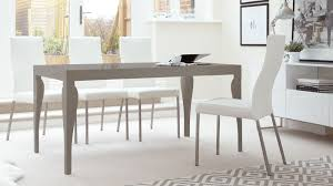 6 8 seater grey gloss dining table and real leather chairs
