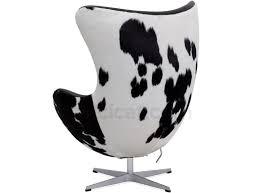 egg chair by arne jacobsen cowhide aniline leather platinum replica arne jacobsen egg chair leather black