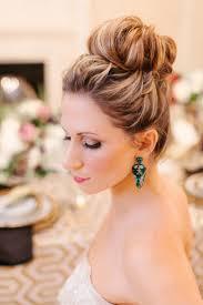 ロングヘアキュートにクラシックにお団子ヘア結婚式の髪型 Wedding