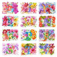 Flower Pressed Paper Anna Bucciarelli Flower Alphabet