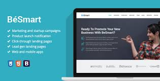 Besmart Startup Landing Page Template By Epic Themes Themeforest
