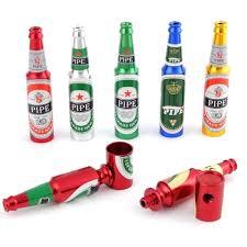 Creative Mini Beer Metal <b>Smoke Tobacco Pipes Portable</b> Creative ...