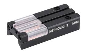 meprolight ft bullseye fiber optic and tritium micro optic pistol sight fits ruger mark iii and