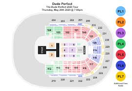 Peace Center Greenville Seating Chart Dude Perfect Bon Secours Wellness Arena