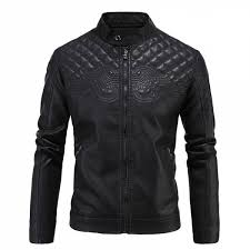 our brand new leather jacket features an elegant hand embroidered design on the front made for action our leather jacket is durable and suave