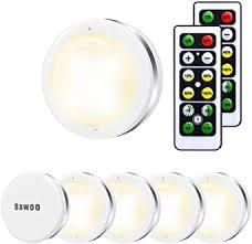 Under Cabinet Lights, Bawoo Wireless LED Puck Lights Remote ...