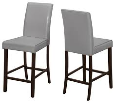dining chair 2 piece set gray leather look counter height transitional bar stools and counter stools by bisonoffice