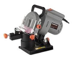 chainsaw blade sharpener. terratek 220w ttcss electric chainsaw sharpener, chain saw 4 x sharpening discs blade sharpener