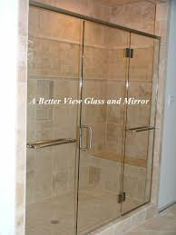 this glass shower enclosure photo is a frameless glass shower door and two glass panels with