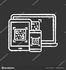 Chalkboard Sign Generator Codes Different Devices Chalk Icon Matrix Barcodes Generator