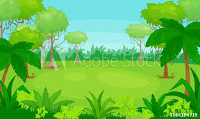 jungle background vector. Beautiful Vector Vector Cartoon Illustration Of Jungle Background Vector Landscape To Jungle Background J