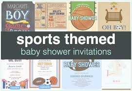 Sports Baby Shower Invitations And Theme  Baby Shower Invitation Baby Shower Invitations Sports Theme