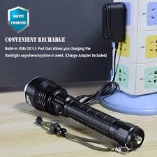 Best Search Light For Hunting Super Bright Led Torch Pfsn Tcp50 Powerful Flashlight With
