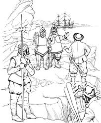 Small Picture Eskimo Meets First Explorers of North America coloring page Free