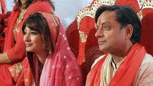 Image result for shashi tharoor sunanda pushkar