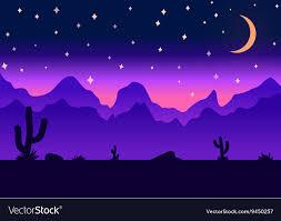 Desert Parallax Background Night