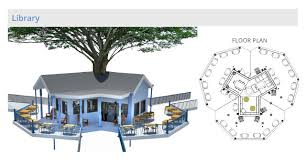 tree house floor plans. Brilliant Plans Tree House Village Library Structure Final Render One Community To House Floor Plans N