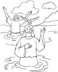 Baptism Of Jesus Color Page