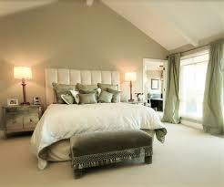 Ceiling Decorations For Bedrooms Bedroom Modern Themed Neutral Bedroom With High Headboard Also