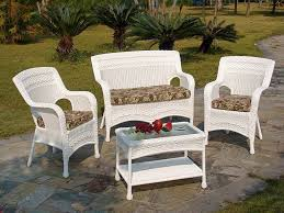 image of white wicker outdoor furniture