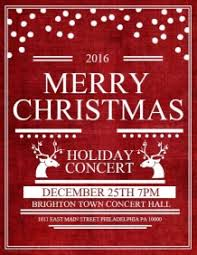christmas event flyers templates customizable design templates for christmas concert postermywall