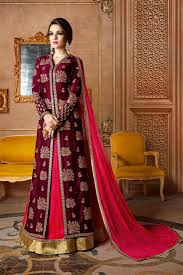 Images Of Designer Party Wear Salwar Kameez Maroon Color Designer Party Wear Salwar Kameez
