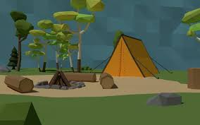 camping in the woods. Lowpoly Scene Camping In The Woods 3d Model Low-poly Obj Fbx Stl Blend Dae