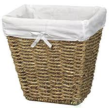 small wicker wastebasket with lid. Fine Wastebasket Woven Seagrass Small Waste Bin Lined With White Washable Lining With Wicker Wastebasket Lid T