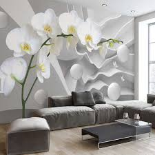 3D Abstract Photo Mural Wallpaper flower Circle Ball Wall Paper for Living  Room TV Background Wall Decor Butterfly Orchid Murals
