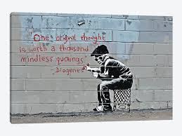 banksy wall art prints banksy prints on canvas banksy graffiti and street art icanvas