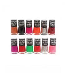 makeup mania exclusive nail polish set of 12 pcs multicolor set 72