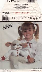 Ff 1980s Shari Lewis 15 Lambchop Puppet Ventriloquist Doll Pattern Vintage Toy Crafts Simplicity 7989 Sewing Pattern Great Gift Uncut