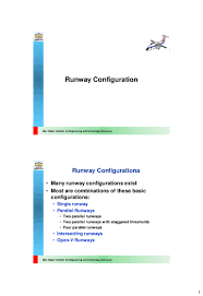 Airport Apron Pavement Design 09 Runway Configuration Highway And Airport Engineering Dr